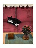 House & Garden Cover - April 1946 Premium Giclée-tryk af André Kertész