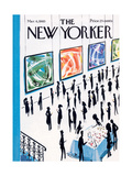 The New Yorker Cover - March 6, 1965 Premium Giclee Print by Mario Micossi
