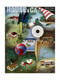 House & Garden Cover - June 1939 Giclee Print by Erik Nitsche