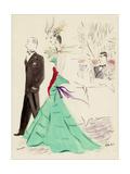 Vogue - March 1936 Giclée-Druck von Marcel Vertes