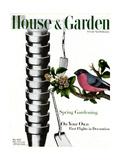 House & Garden Cover - May 1945 Exklusivt gicléetryck av Joseph Cornell
