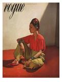 Vogue Cover - April 1939 Premium Giclee Print by Horst P. Horst