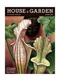 House & Garden Cover - October 1935 Giclee Print by Edna Reindel