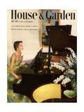 House & Garden Cover - July 1950 Premium Giclee Print by Horst P. Horst