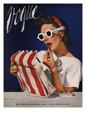 Vogue Cover - July 1939 - Lipstick, Quick! Premium Giclee Print by Horst P. Horst
