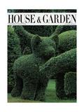 House & Garden Cover - December 1983 Premium Giclee Print by Horst P. Horst