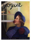 Vogue Cover - January 1935 Premium Giclee Print by Edward Steichen