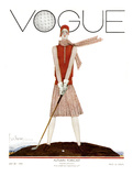 Vogue Cover - July 1929 - Tee Time Giclee Print by Georges Lepape