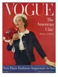 Vogue Cover - March 1957 Giclee Print by Karen Radkai
