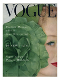 Vogue Cover - February 1953 Giclee Print by Erwin Blumenfeld