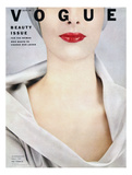 Vogue Cover - October 1952 - Pop of Red Giclee Print by Erwin Blumenfeld