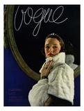 Vogue Cover - December 1933 Premium Giclee Print by Edward Steichen