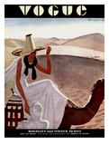 Vogue Cover - December 1930 Premium Giclee Print by Pierre Mourgue