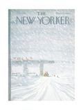 The New Yorker Cover - February 7, 1977 Giclee Print by James Stevenson