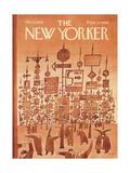 The New Yorker Cover - December 3, 1966 Exklusivt gicléetryck av Jean Michel Folon