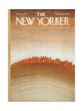 The New Yorker Cover - November 6, 1971 Exklusivt gicléetryck av Jean Michel Folon