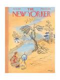 The New Yorker Cover - January 12, 1957 Giclee Print by Anatol Kovarsky