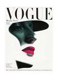 Vogue Cover - May 1945 - In the Shade Premium Giclee Print by Erwin Blumenfeld
