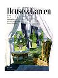 House & Garden Cover - August 1950 Premium Giclee Print by Horst P. Horst