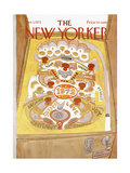 The New Yorker Cover - January 1, 1972 Premium Giclee Print by James Stevenson