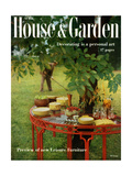 House & Garden Cover - April 1957 Premium Giclee Print by Horst P. Horst