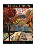 House & Garden Cover - October 1926 Premium Giclee Print by Pierre Brissaud