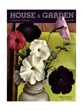 House & Garden Cover - March 1935 Giclee Print by Edna Reindel