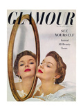 Glamour Cover - July 1949 Premium Giclee Print by John Rawlings