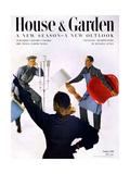 House & Garden Cover - October 1951 Premium Giclee Print by Horst P. Horst