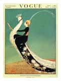 Vogue Cover - April 1918 - Peacock Parade Giclée-Premiumdruck von George Wolfe Plank
