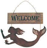 Mermaids Welcome Wood Sign 木製看板