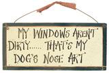 Dog Art Wood Sign Placa de madeira