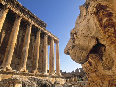 Temple of Bacchus, Baalbek, Bekaa Valley, Lebanon Photographic Print