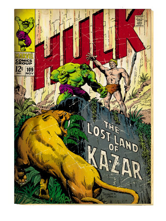 http://cache2.allpostersimages.com/p/LRG/41/4126/CC8MF00Z/posters/marvel-comics-retro-the-incredible-hulk-comic-book-cover-109-the-lost-land-of-ka-zar-aged.jpg