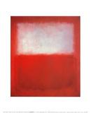 Blanc sur rouge Posters par Mark Rothko