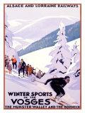 Sports d'hiver dans les Vosges Reproduction procédé giclée