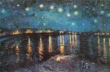 Sterrennacht boven de Rhône, ca.1888 Print van Vincent van Gogh