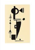 Formspiel, c.1948 Serigrafi (silketryk) af Max Ackermann