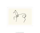 Hästen Serigrafiprint (silkscreentryck) av Pablo Picasso