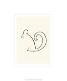 The Squirrel Silketrykk av Pablo Picasso