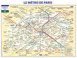 De metro van Parijs Print