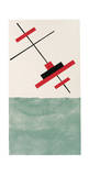 Entwurf fur Eine Festdekoration in Witebst, c.1920 Serigrafi (silketryk) af Vera Jermolajeva
