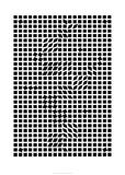 Tlinko, c.1955 Serigrafiprint (silkscreentryck) av Victor Vasarely