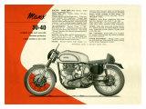 British BSA Manx 30 40 Motorcycle Stampa giclée