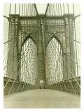 New York, Brooklyn Bridge Tower Reproduction procédé giclée
