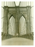 New York, Brooklyn Bridge Tower Giclée-Druck