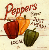 Sweet Peppers Poster by David Carter Brown