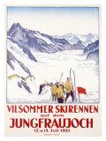 Switzerland, VII Summer Glacier Ski Gicléetryck av Emil Cardinaux