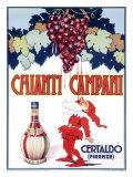 Chianti Campani Wine Elf Lámina giclée