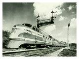 Railroad Train Engine Giclée-Druck